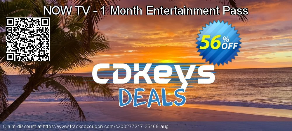 NOW TV - 1 Month Entertainment Pass coupon on Social Media Day deals