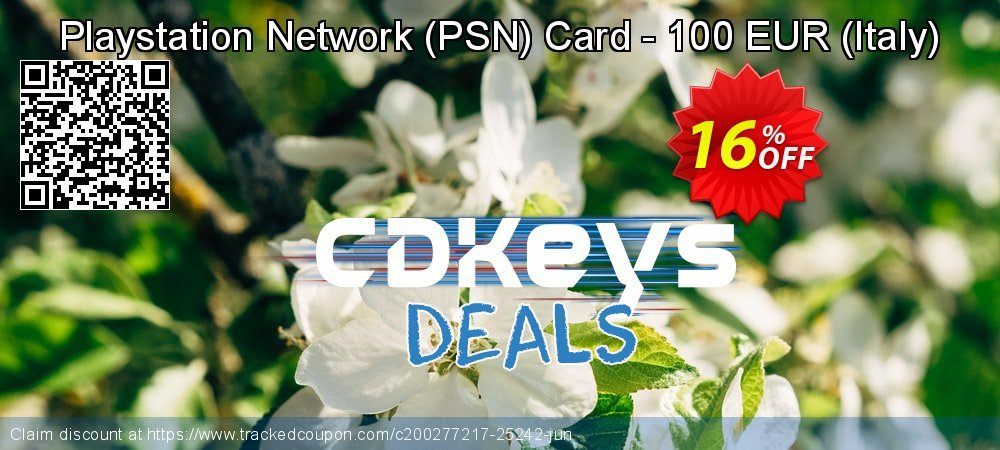 Playstation Network - PSN Card - 100 EUR - Italy  coupon on National Cheese Day offer
