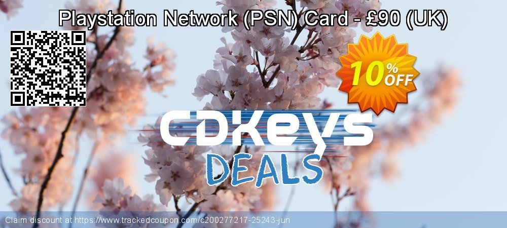 Playstation Network - PSN Card - £90 - UK  coupon on World Bicycle Day discount