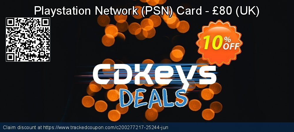 Playstation Network - PSN Card - £80 - UK  coupon on World Milk Day offering discount