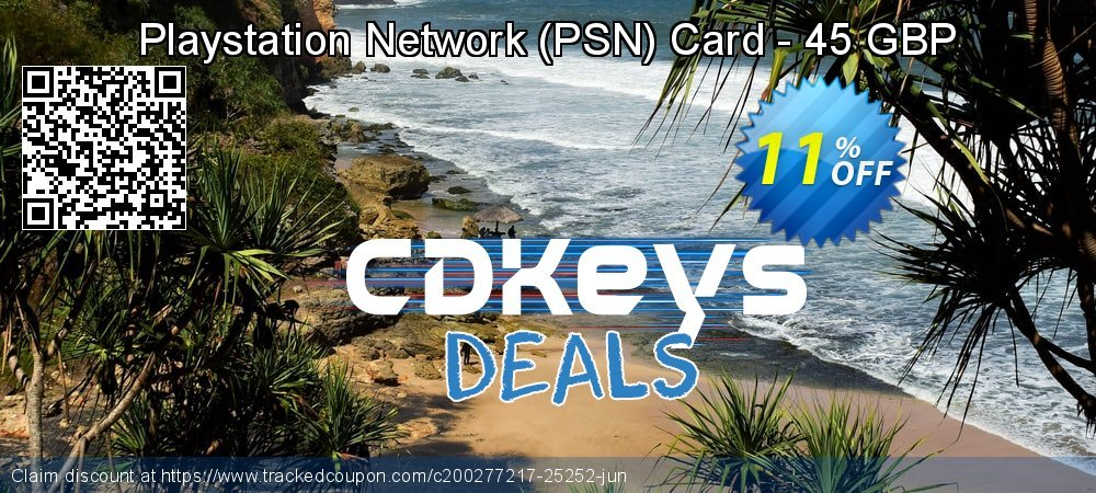 Playstation Network - PSN Card - 45 GBP coupon on Camera Day discount