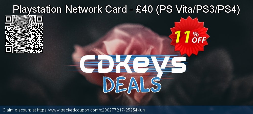 Playstation Network Card - £40 - PS Vita/PS3/PS4  coupon on Father's Day offering sales