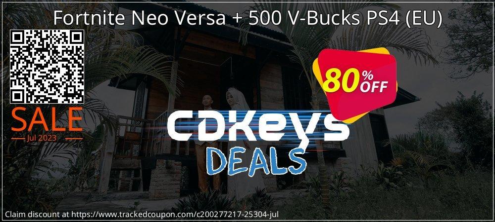 Fortnite Neo Versa + 500 V-Bucks PS4 - EU  coupon on Camera Day deals