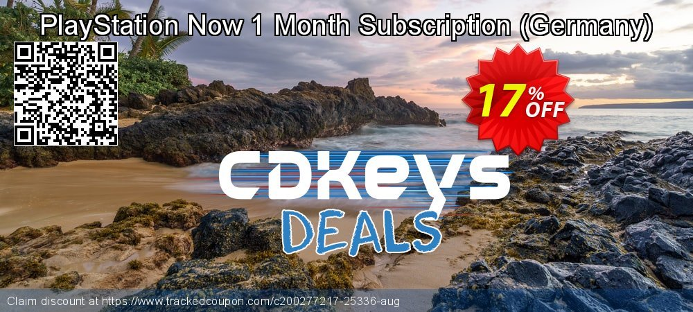 PlayStation Now 1 Month Subscription - Germany  coupon on Egg Day super sale