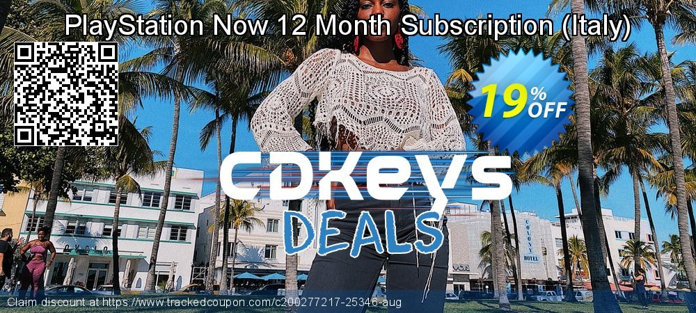 PlayStation Now 12 Month Subscription - Italy  coupon on National Cheese Day discounts