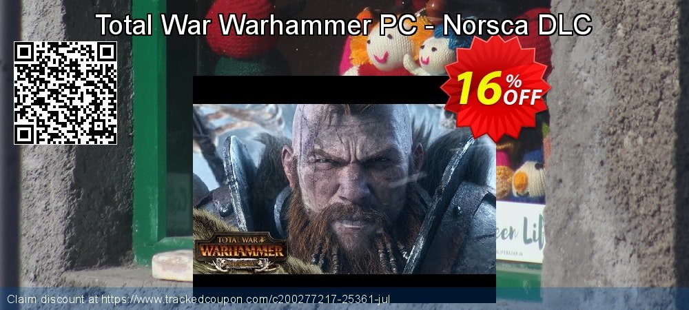 Total War Warhammer PC - Norsca DLC coupon on Mothers Day discount