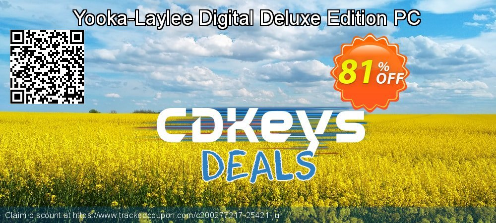 Yooka-Laylee Digital Deluxe Edition PC coupon on Camera Day deals