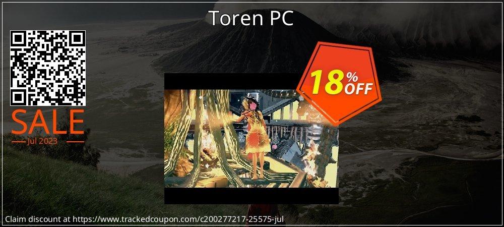Get 10% OFF Toren PC offering sales