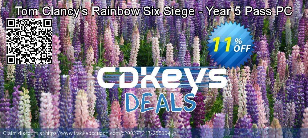 Tom Clancy's Rainbow Six Siege - Year 5 Pass PC coupon on National Cheese Day discounts