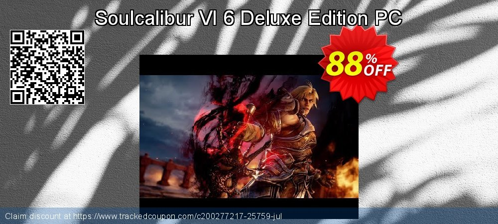 Get 82% OFF Soulcalibur VI 6 Deluxe Edition PC offering sales
