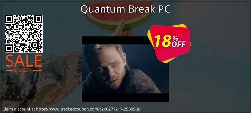 Get 10% OFF Quantum Break PC promotions