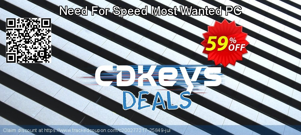 Need For Speed Most Wanted PC coupon on Hug Holiday super sale