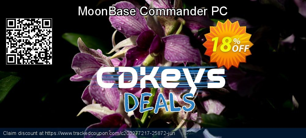 MoonBase Commander PC coupon on World Oceans Day offer