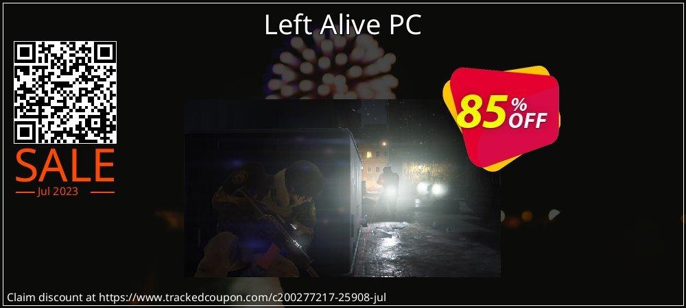 Get 43% OFF Left Alive PC offering sales