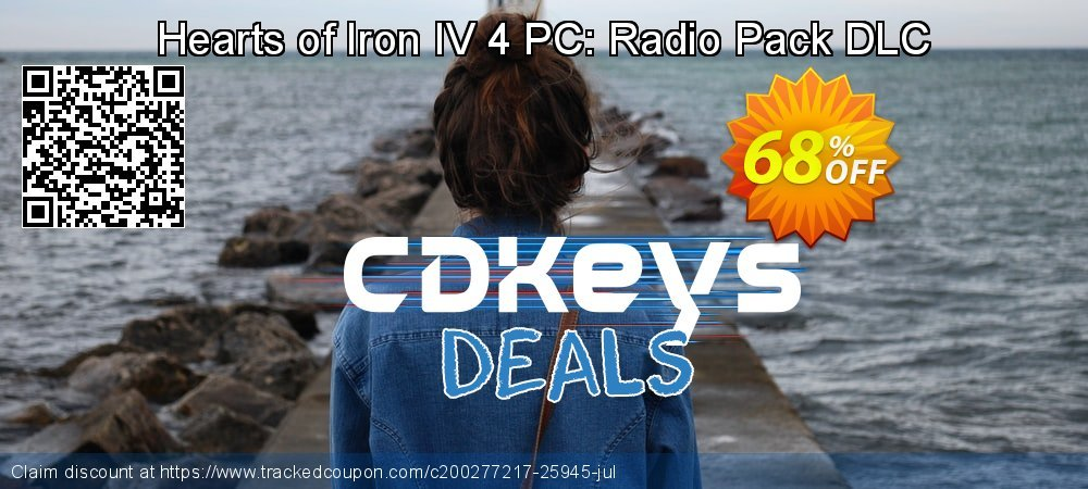 Hearts of Iron IV 4 PC: Radio Pack DLC coupon on World Bicycle Day discount