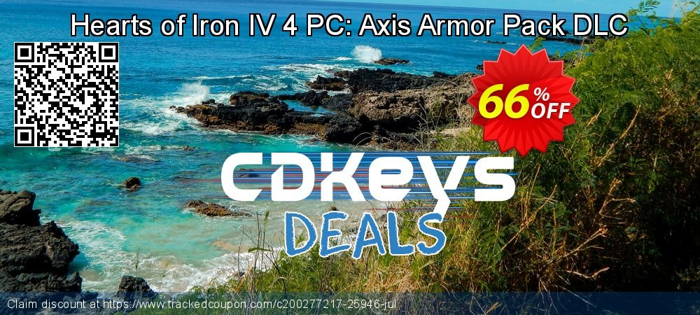 Get 58% OFF Hearts of Iron IV 4 PC: Axis Armor Pack DLC discount