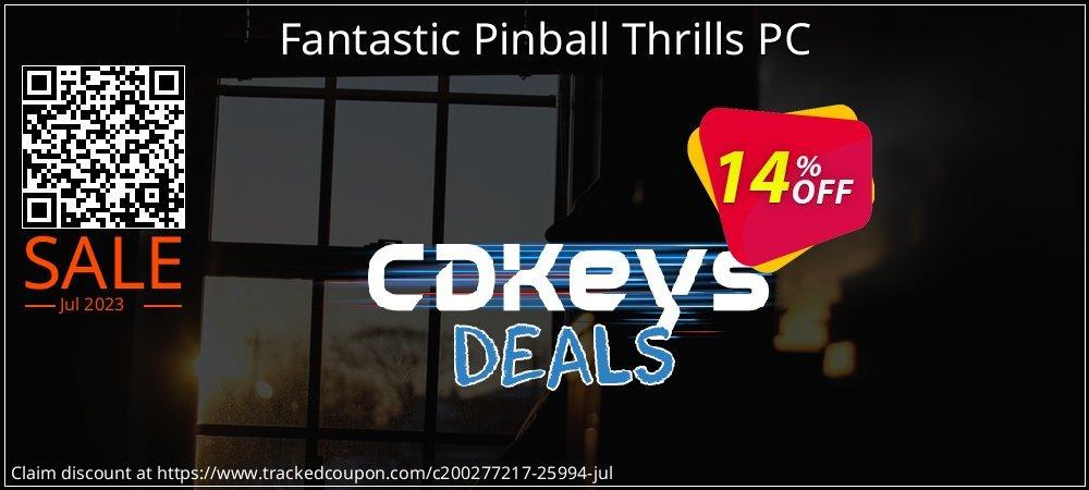 Fantastic Pinball Thrills PC coupon on Summer discounts
