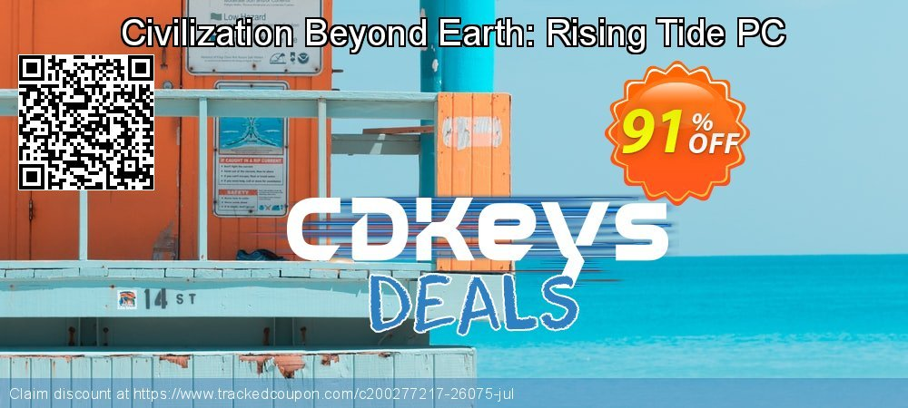 Civilization Beyond Earth: Rising Tide PC coupon on World Bicycle Day discounts