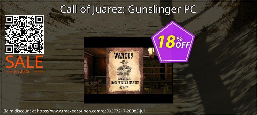 Call of Juarez: Gunslinger PC coupon on World Bollywood Day sales