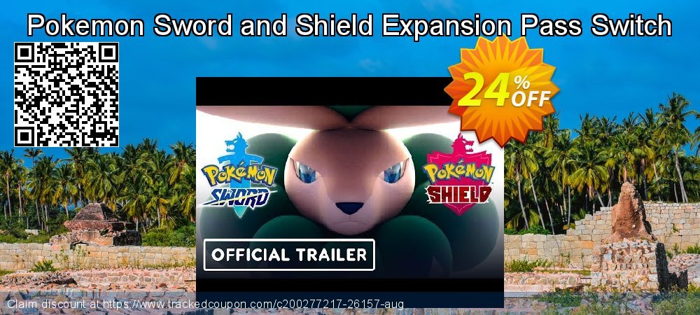 Pokemon Sword and Shield Expansion Pass Switch coupon on Social Media Day promotions
