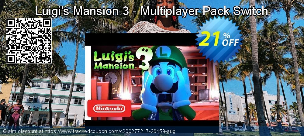 Luigi's Mansion 3 - Multiplayer Pack Switch coupon on National Kissing Day deals