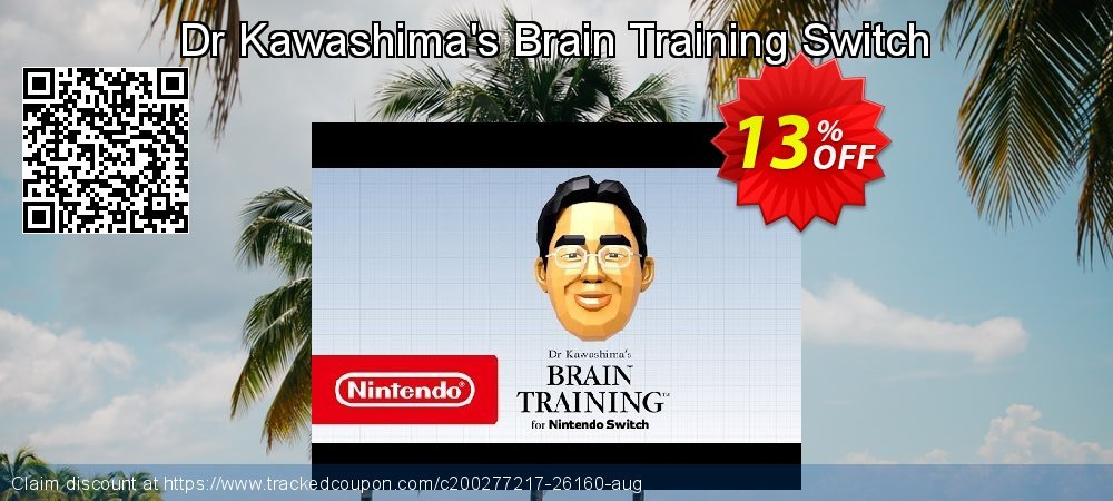 Get 12% OFF Dr Kawashima's Brain Training Switch offering sales