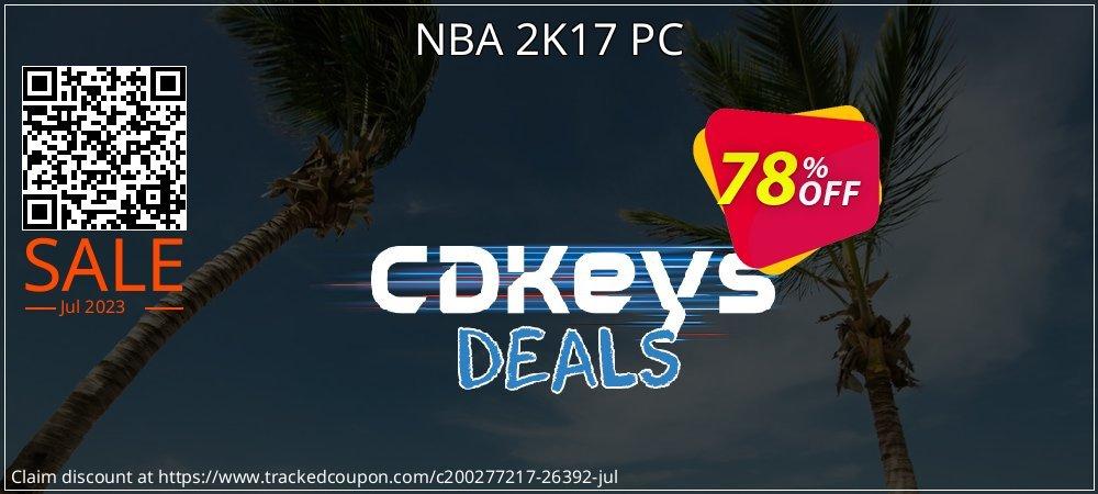 Get 77% OFF NBA 2K17 PC offering sales
