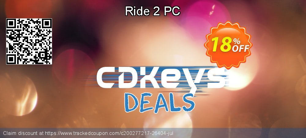 Ride 2 PC coupon on Social Media Day discount