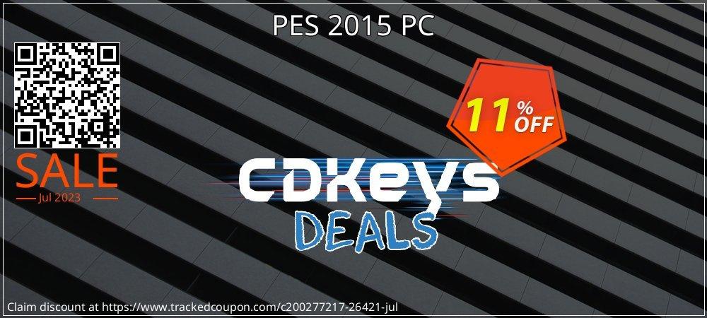 PES 2015 PC coupon on Hug Holiday offer