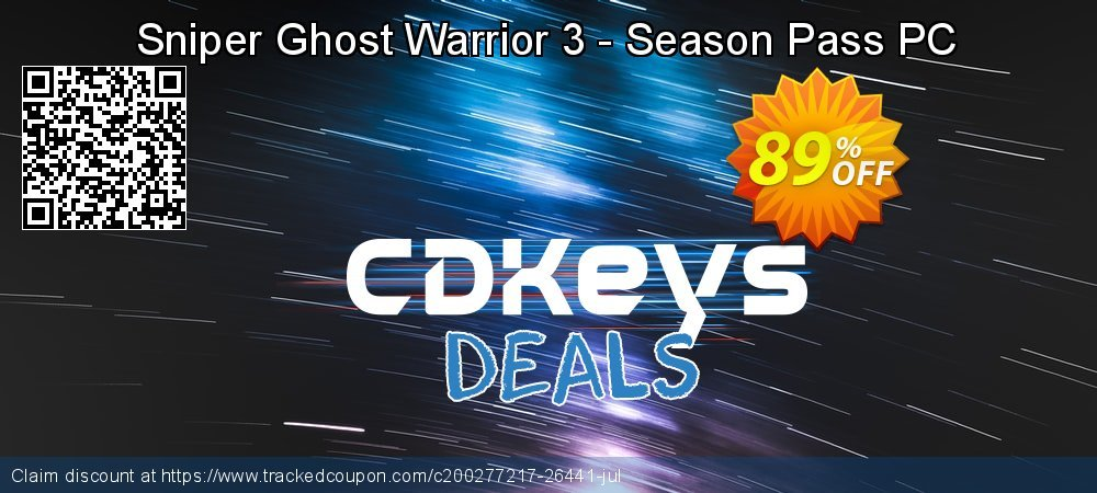 Sniper Ghost Warrior 3 - Season Pass PC coupon on Egg Day offering discount