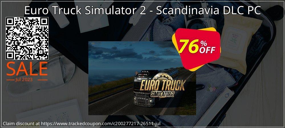 Get 63% OFF Euro Truck Simulator 2 - Scandinavia DLC PC discounts