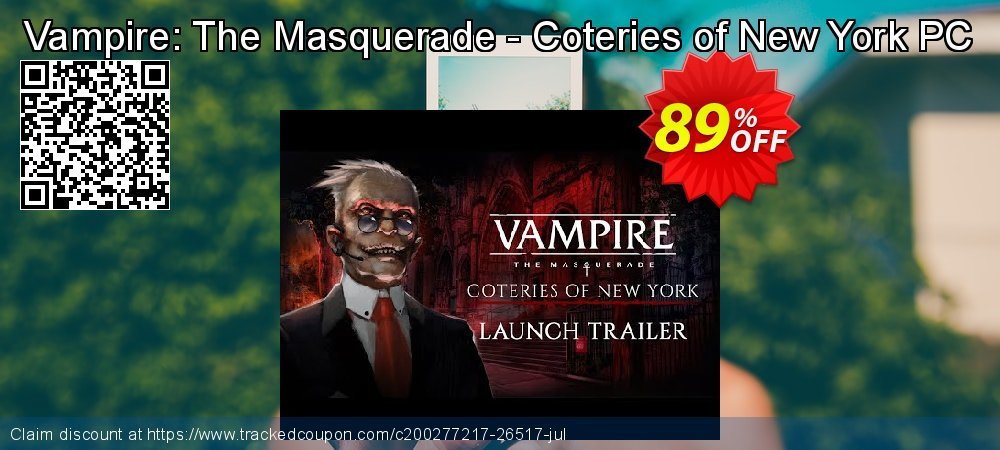 Get 92% OFF Vampire: The Masquerade - Coteries of New York PC promo sales