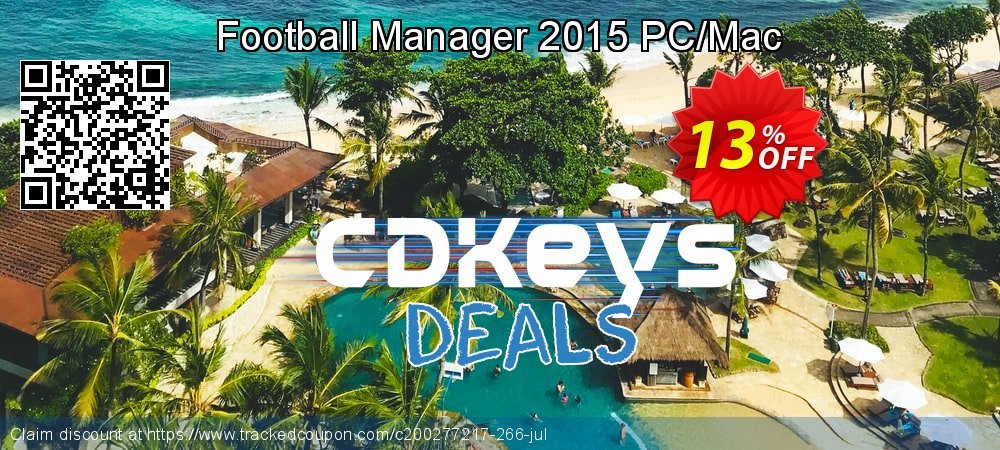 Football Manager 2015 PC/Mac coupon on American Independence Day offer