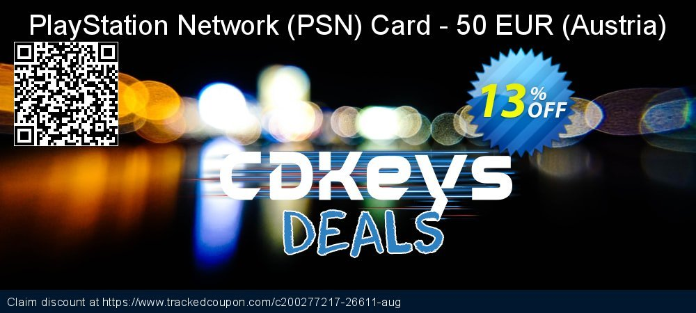 PlayStation Network - PSN Card - 50 EUR - Austria  coupon on World Bicycle Day discount