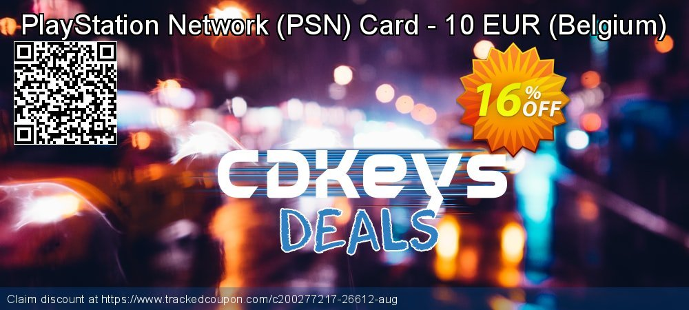 PlayStation Network - PSN Card - 10 EUR - Belgium  coupon on Social Media Day offering discount
