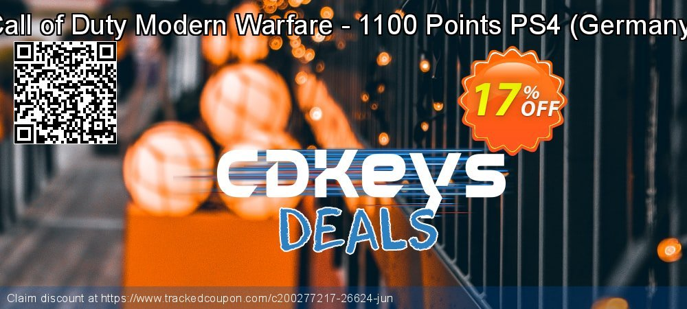 Call of Duty Modern Warfare - 1100 Points PS4 - Germany  coupon on New Year offer