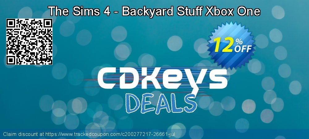 The Sims 4 - Backyard Stuff Xbox One coupon on World Milk Day promotions