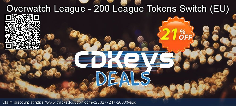 Overwatch League - 200 League Tokens Switch - EU  coupon on Summer discount