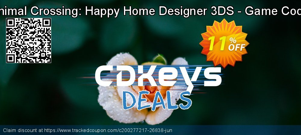 Animal Crossing: Happy Home Designer 3DS - Game Code coupon on Summer super sale