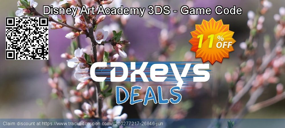 Disney Art Academy 3DS - Game Code coupon on Social Media Day offering discount