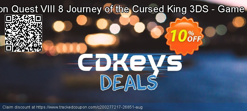 Dragon Quest VIII 8 Journey of the Cursed King 3DS - Game Code coupon on Camera Day sales