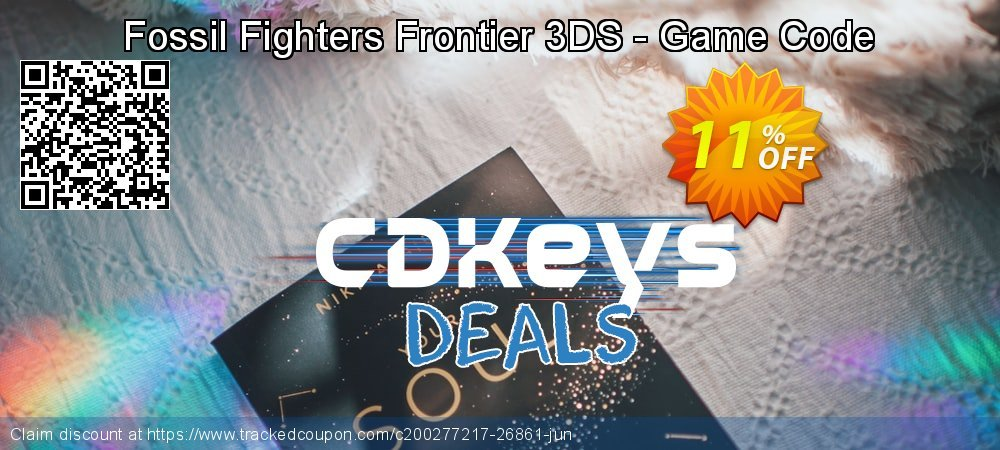 Fossil Fighters Frontier 3DS - Game Code coupon on National Kissing Day deals