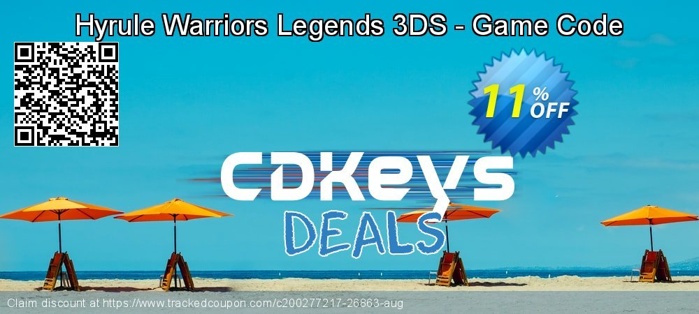 Hyrule Warriors Legends 3DS - Game Code coupon on Hug Holiday discount