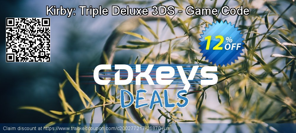 Kirby: Triple Deluxe 3DS - Game Code coupon on Egg Day deals