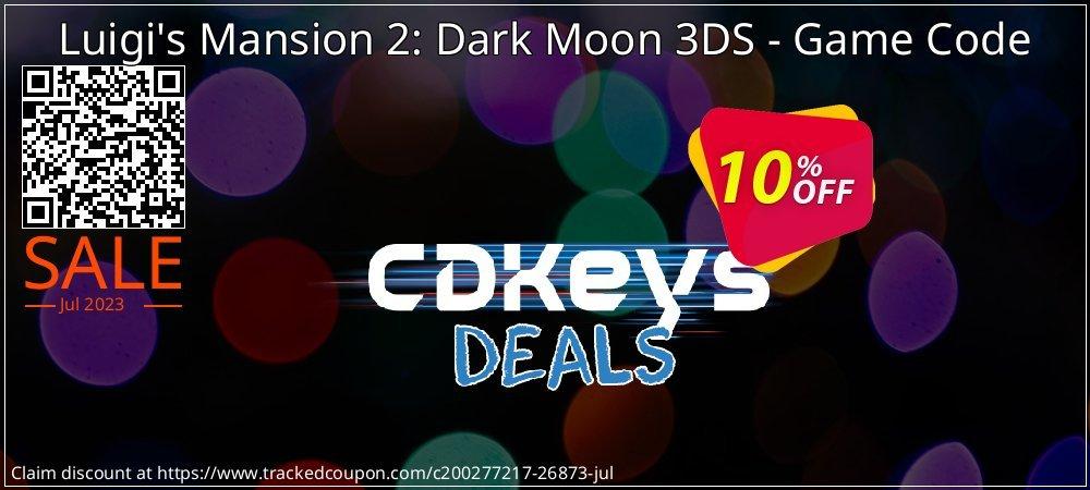 Get 10% OFF Luigi's Mansion 2: Dark Moon 3DS - Game Code offering sales