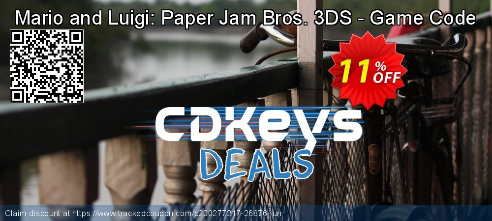 Mario and Luigi: Paper Jam Bros. 3DS - Game Code coupon on Hug Holiday discounts