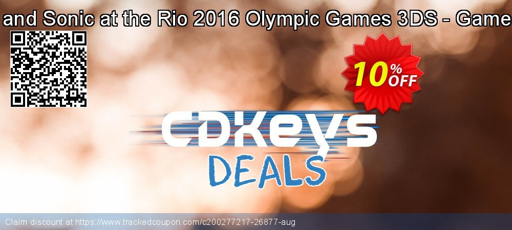Mario and Sonic at the Rio 2016 Olympic Games 3DS - Game Code coupon on Camera Day promotions