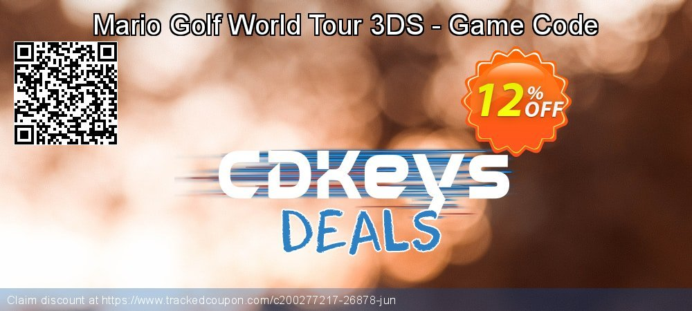 Mario Golf World Tour 3DS - Game Code coupon on Summer sales