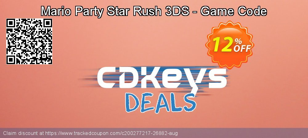 Mario Party Star Rush 3DS - Game Code coupon on World Milk Day offering discount