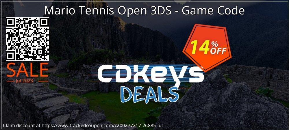 Mario Tennis Open 3DS - Game Code coupon on Social Media Day discounts